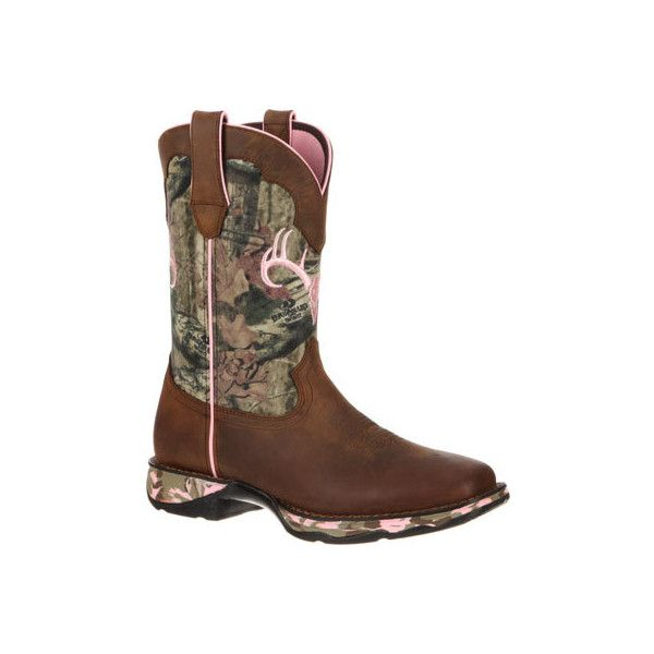 "Women's Durango Boot DRD0051 10"" Camo Lady Rebel Cowboy Boots ($159) ❤ liked on Polyvore featuring shoes, boots, western style boots, cowgirl style boots, camo western boots, durango shoes and camo boots"