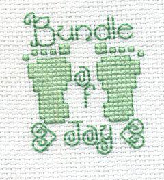 """Bucilla ® Counted Cross Stitch - Beginner Stitchery - Mini - Bundle of Joy    Size: 2"""" x 2"""""""