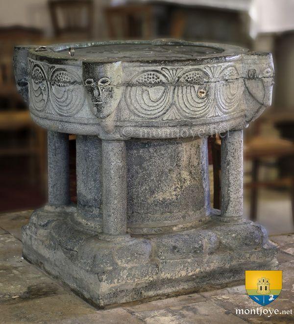 02.029.0495.00630.36642.8345 Fonts baptismaux de Saint-Marcoul de Corbeny