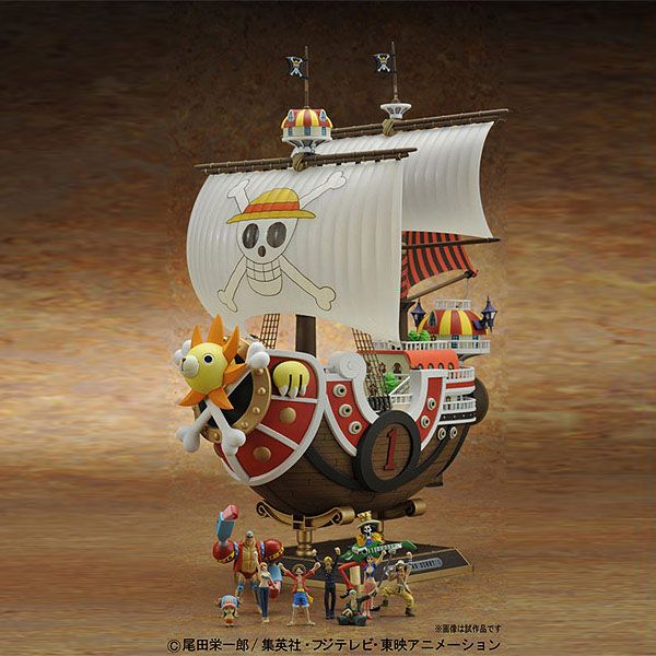 One Piece DX figure THE GRANDLINE SHIPS Thousand Sunny Going Merry Model Toy