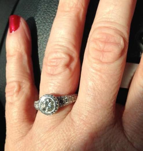 ritani round halo engagement ring - Ritani Wedding Rings