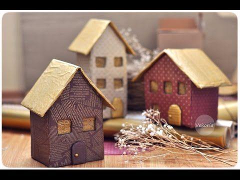 мастер-класс : домики из картона
