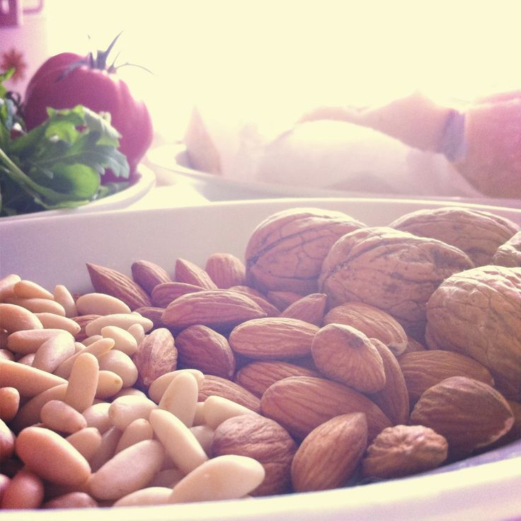 Pine nuts, almonds and walnuts. For more Italian food inspiration visit my blog http://mozzarelladiaries.blogspot.it/