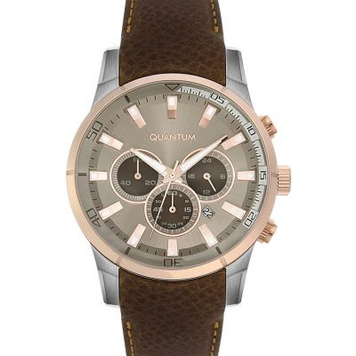 193 EURO ΡΟΛΟΙ ΑΝΔΡΙΚΟ QUANTUM ADRENALINE BROWN LEATHER CHRONOGRAPH ADG389.575 - e-chrono.gr | Ρολόγια - Κοσμήματα