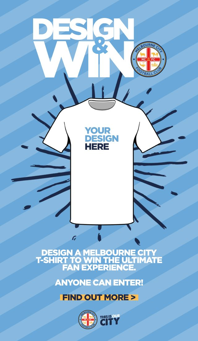 The @ALeague team @MelbourneCity are calling on fans to design a tee for a new merchandise line. Good task for aspiring designers or kids.