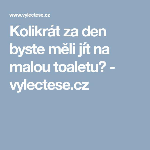 Kolikrát za den byste měli jít na malou toaletu? - vylectese.cz