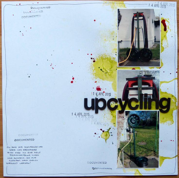 Layout - upcycling (Felgen werden zur Schlauchhalterung)