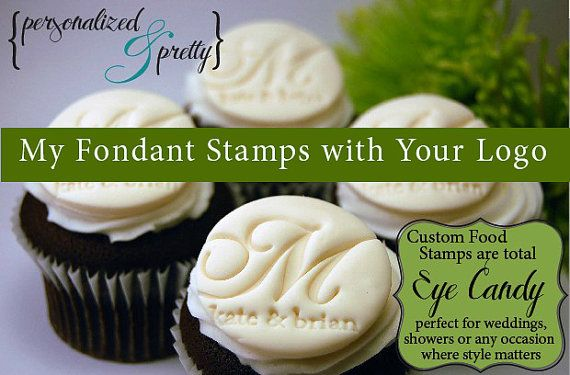 use embosser to stamp fondant or cookies with your monogram