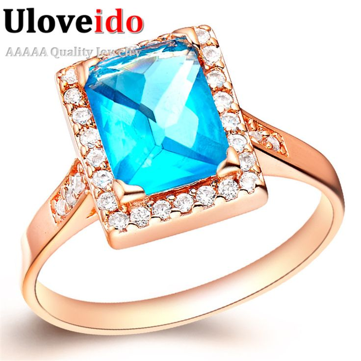 Find More Rings Information about Rose Gold Plated Ring Simulated Gemstone Blue Jewelry of Silver Bijoux Women Casamento Decorations Aliexpress Sale Ulove J188,High Quality jewelry horseshoe,China jewelry picasso Suppliers, Cheap jewelry tweezer from ULOVE Fashion Jewelry on Aliexpress.com