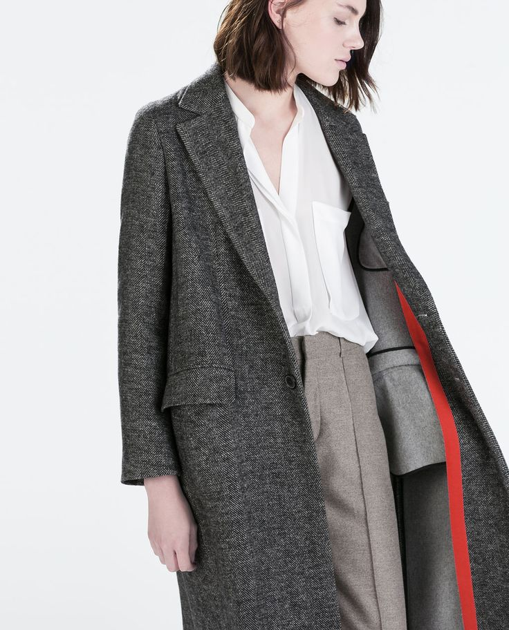 ZARA - WOMAN - STUDIO HERRINGBONE COAT