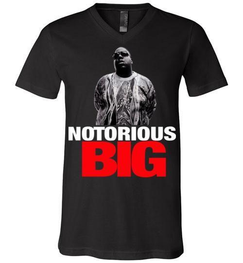 Notorious BIG Biggie Smalls Big Poppa Frank White Christopher Wallace,Bad Boy Records, Hip Hop New York Brooklyn,v10, Canvas Unisex V-Neck T-Shirt