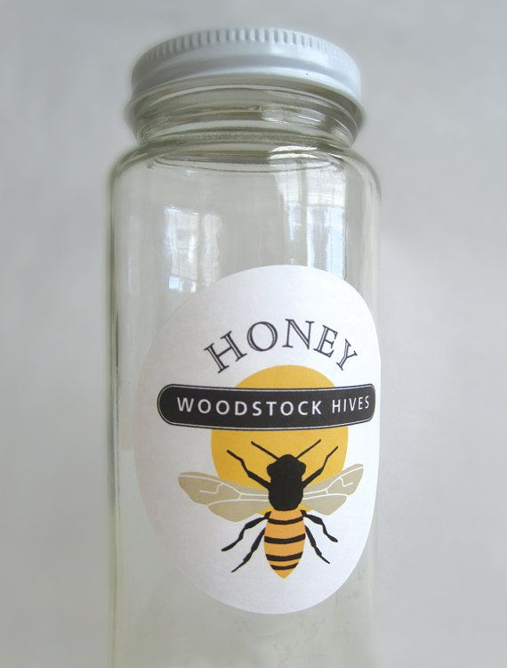 Honey Jar Labels Beekeeping Supplies Gift by GalleryintheGarden