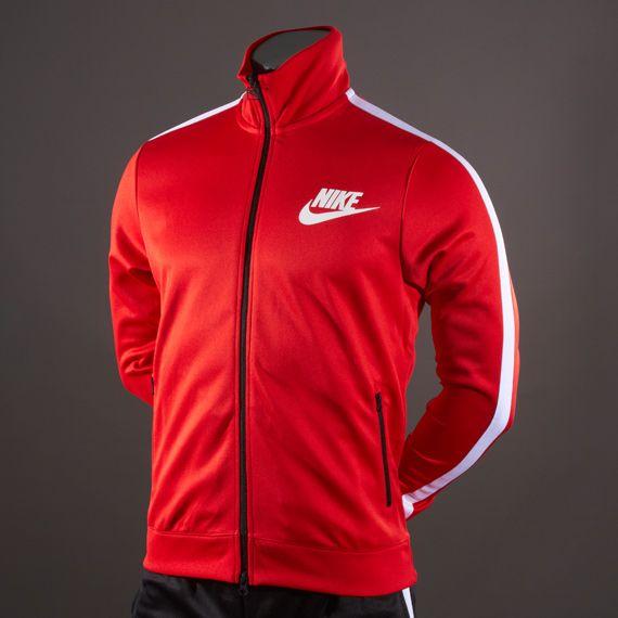 Nike Track Logo Jacket - Red/White/White