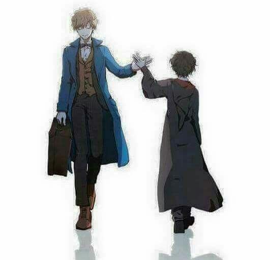 Newt Scammander and Harry Potter