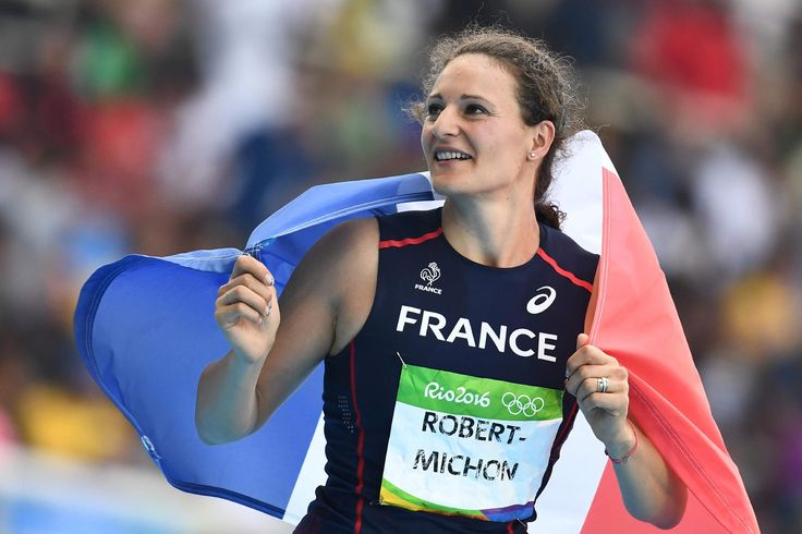 Mélina Robert-Michon a remporté la médaille d'argent de l'épreuve olympique du…