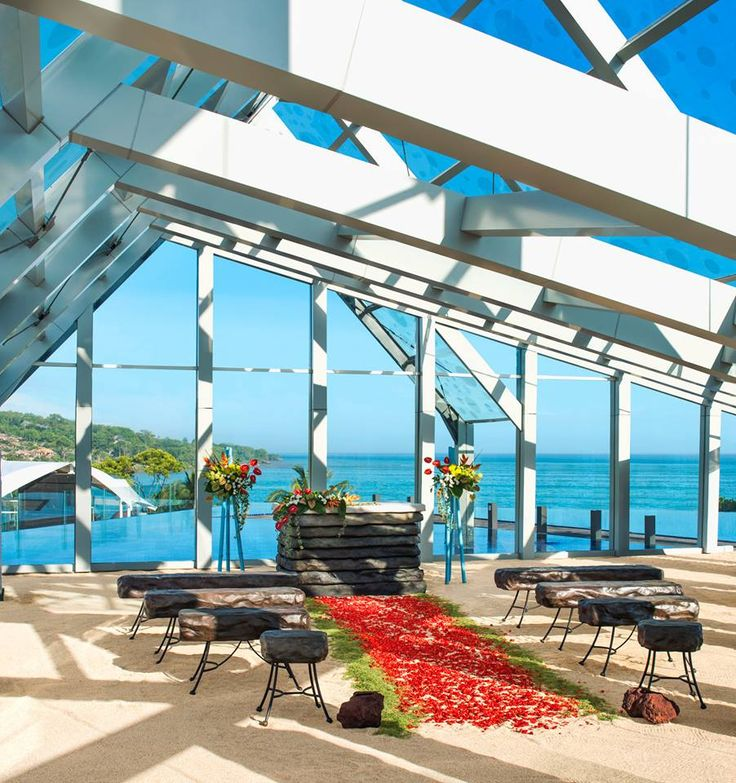 Jimbaran Rooftop Pavilion / Chapel wedding  http://www.balibrides.com.au/bali-wedding-packages
