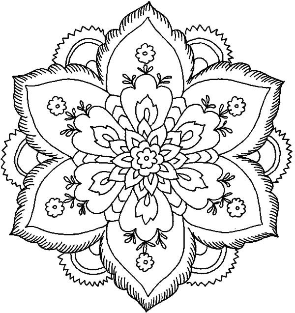 Abstract Flower Abstract Coloring Pages Abstract Coloring Pages Flower Coloring Pages Mandala Coloring Pages