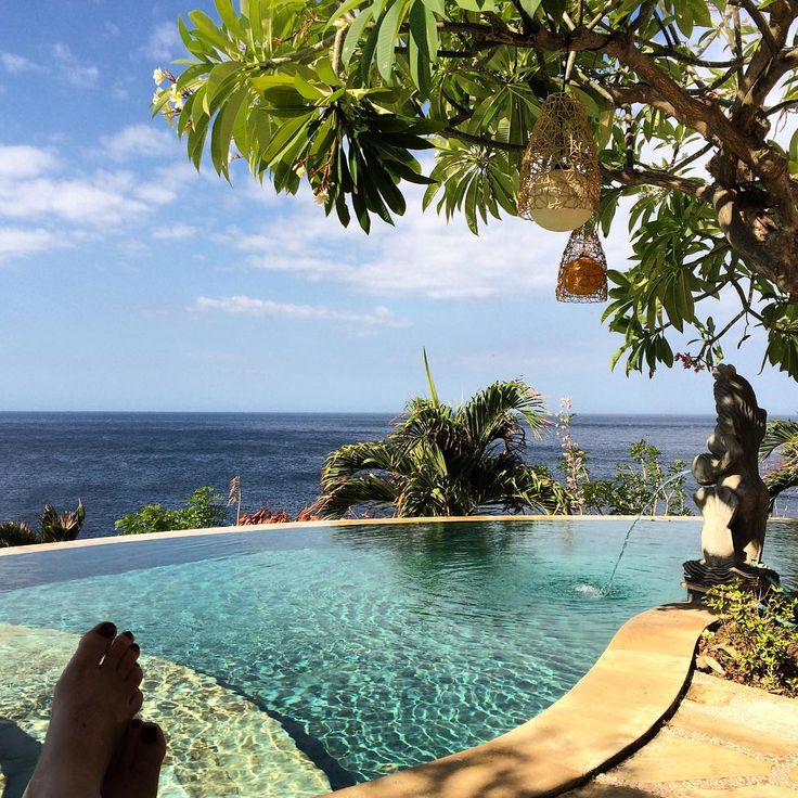 Pool shot from the Blue Moon Villas, Amed. Amazing view.