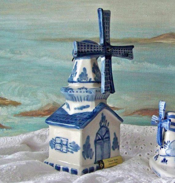 Antique Music Box Holland Windmill Amsterdam by cynthiasattic, $33.00