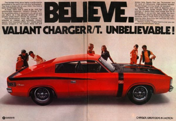Chrysler Advert - Valiant VH Charger (167K): Original Chrysler Adverts: Media: Charger Club of WA