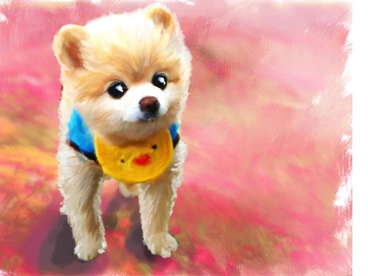 5,000원에 사랑스런 애완동물을 부드러운 유화풍으로 그려드립니다*