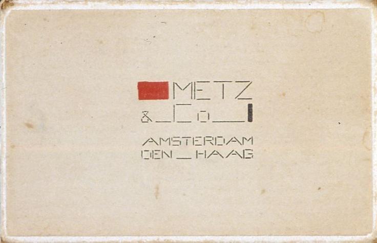 Bart van der Leck  Packaging for Metz & Co.  (1930s)
