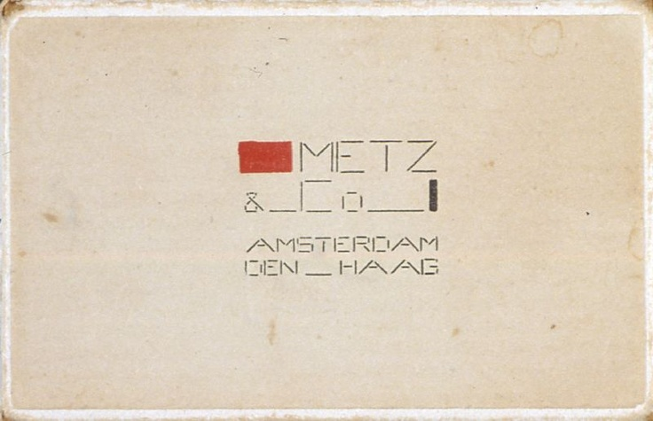 Bart van der Leck  Packaging for Metz & Co.  (1930s)