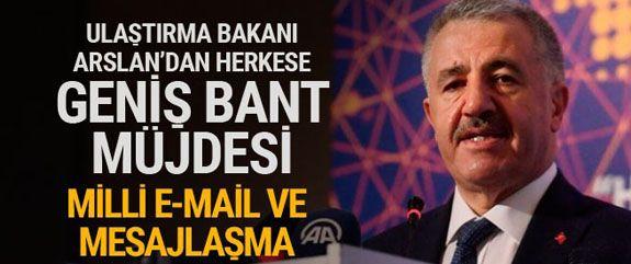 Ulaştırma, Denizcilik ve Haberleşme Bakanı Ahmet Arslan,