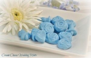 Cream Cheese Wedding Mints with Title, video tutorial using molds