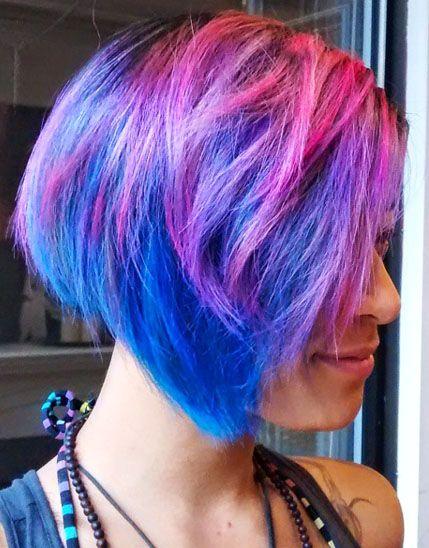Our clients hair reminds us of cotton candy dreaming! #kimberlystyleshair #kimberlystylesoggisalon #oggisalon #yorkvillehair #toronto #torontohair #bluehair #pinkhair #cottoncandy