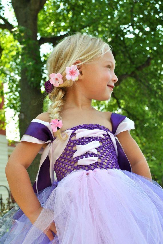 Princess Rapunzel Costume/Tutu Dress by OverTheTopShop on Etsy, $54.99...