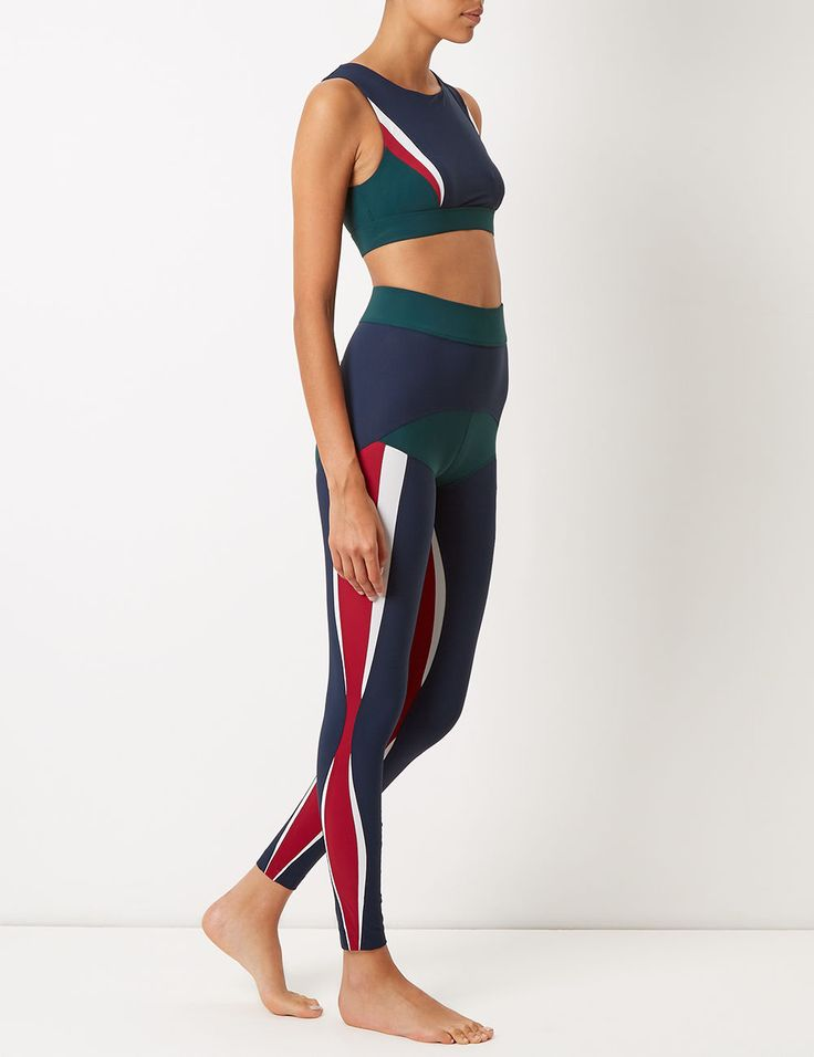 Multi Colour Block Lani Sports Bra