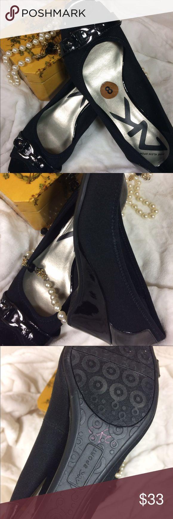 Anne Klein Sport Trury black peep toe wedge. Anne Klein Sport size 8. New but without original box. Anne Klein Shoes Wedges