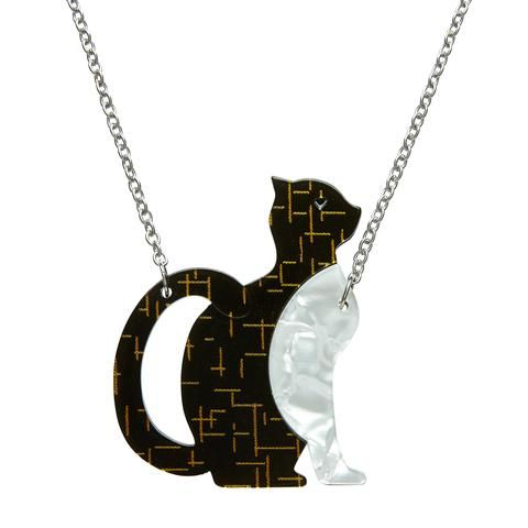 Erstwilder Purrfectly Content Cat Necklace