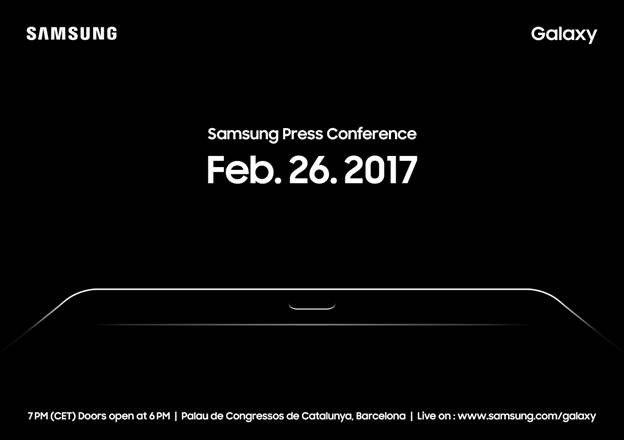 Планшет Samsung Galaxy Tab S3 представят на MWC 2017 производитель рассылает приглашения на мероприятие