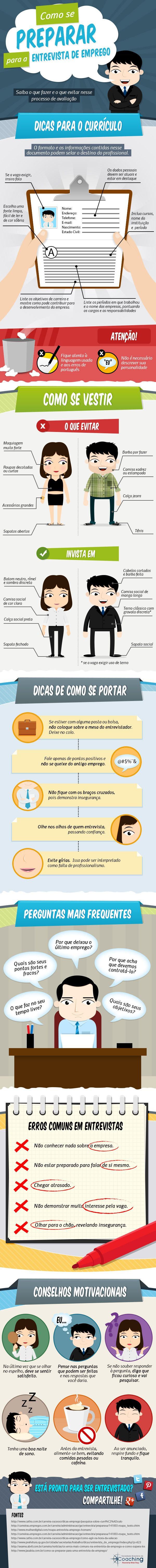 #HR Infográfico com dicas para entrevista de emprego – SBCoaching.com.br