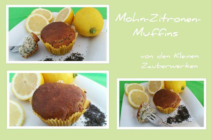 saftig frische Mohn-Zitronen-Muffins   Das Rezept findet ihr bei kleinezauberwerke.wordpress.com