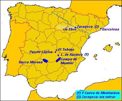 Mapa ruta Quijote - Ruta de Don Quijote - Wikipedia, la enciclopedia libre