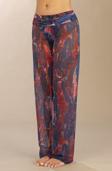 pantalon de plage imprimé python - pantalon de plage modulable ymali pain de sucre