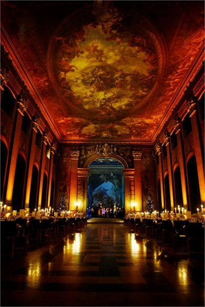 Emmanuelle and Kane's wedding ceremony at the Naval College ((The Old Royal Naval College Wedding Venue, London))