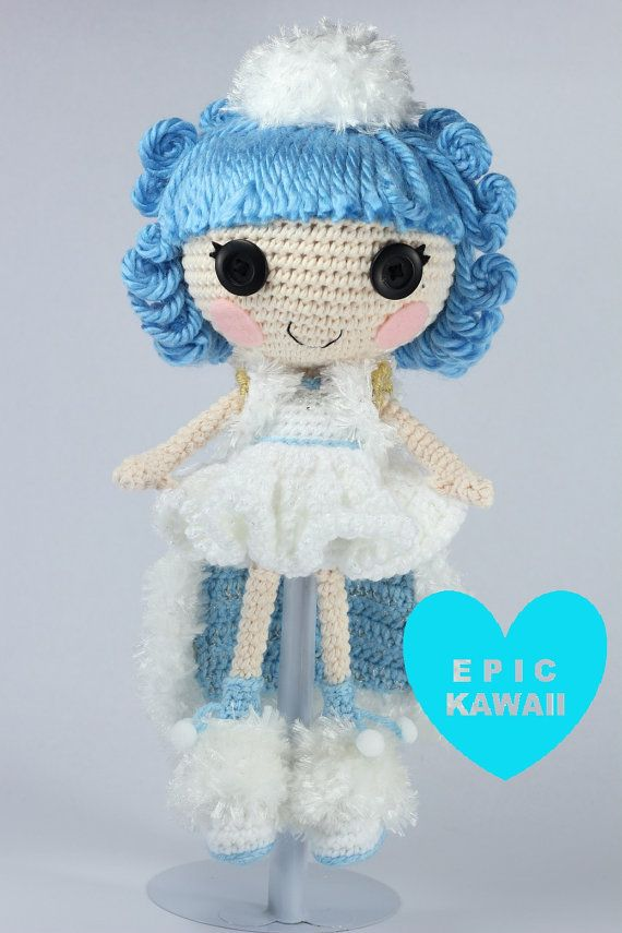 PATTERN Lalaloopsy Ivory Ice Crystals Crochet by epickawaii