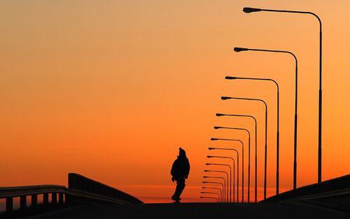 Skate sunset