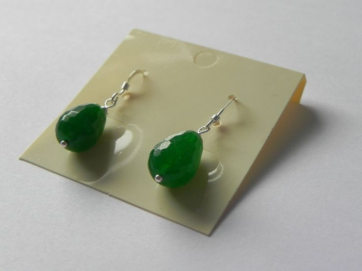 Green quartz sterling silver drop earrings by MadebySuzanne on Etsy