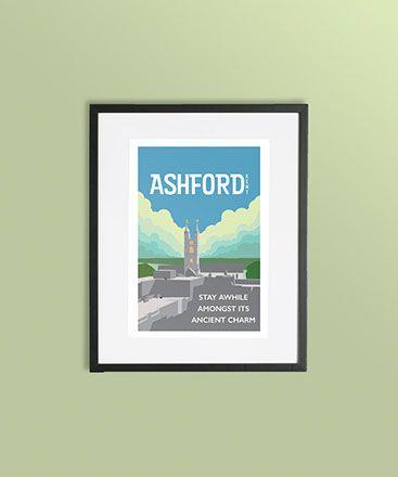 Ashford Town Print