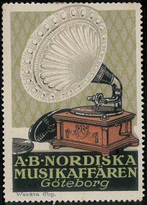 Negozio di musica A.B.Nordiska, ca. 1919