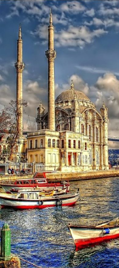 http://www.greeneratravel.com/ Cambodia Tours - Ortaköy Mosque, Istanbul, Turkey