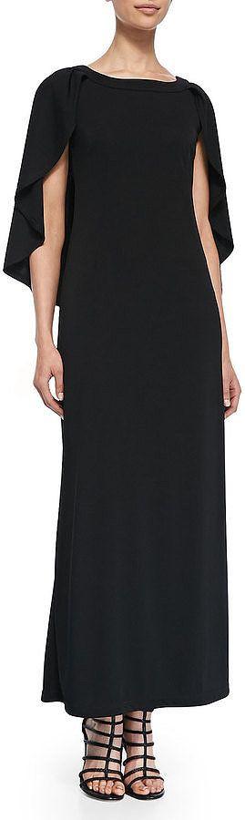 Melissa Masse Long Cape Dress