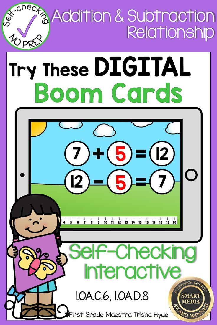 Addition And Subtraction Related Facts Are Fun With These Digital Task Cards Boom Cards Are A Great Addi Addition And Subtraction First Grade Math Subtraction Related addition and subtraction facts