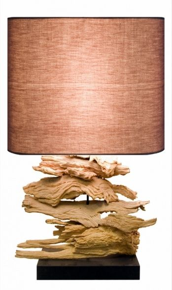 Recta Rooterie with Natural Linen Lampshade