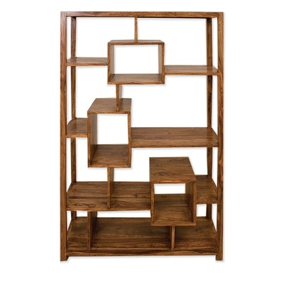 Elements Cubex Living Geometric Bookcase in Warm Lacquer  Wayfair UK